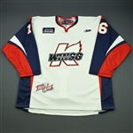 Charlebois, Joe<br>White Kelly Cup Finals - Game 3 & 4 - Game-Issued<br>Kalamazoo Wings 2010-11<br>#16 Size: 58