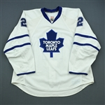 Schenn, Luke * <br>White Set 2  - Photo-Matched<br>Toronto Maple Leafs 2009-10<br>#2 Size: 58