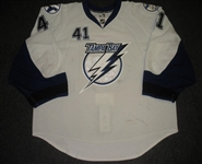 Smith, Mike * <br>White, Photo-Matched<br>Tampa Bay Lightning 2007-08<br>#41 Size: 58+G