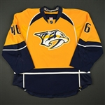 Aberg, Pontus<br>Gold Set 1 - NHL Debut & 1st NHL Point<br>Nashville Predators 2016-17<br>#46 Size: 56