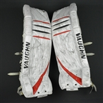 Kinkaid, Keith<br>Vaughn V5 Leg Pads - 1st NHL Win<br>New Jersey Devils 2014-15