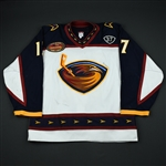 Kovalchuk, Ilya * <br>White 2nd Regular Season, with Dan Snyder  37  and 5th Anniversary Patches<br>Atlanta Thrashers 2003-04<br>#17 Size: 56
