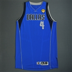 Butler, Caron * <br>Blue Regular Season w/ Finals Patch  (Not Worn In Finals)<br>Dallas Mavericks 2010-11<br>#4 Size: XXL