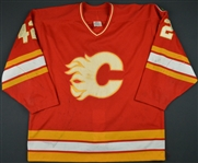 Makarov, Sergei * <br>Red - Flames 10 yr patch<br>Calgary Flames 1989-90<br>#42