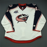 Anisimov, Artem<br>White Set 1 w/All-Star-Star Game Patch - One Game Only<br>Columbus Blue Jackets 2014-15<br>#42 Size: 58+