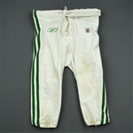 Dunlap, King<br>1960 White and Kelly Green Throwback Pants<br>Philadelphia Eagles 2010<br>#65 Size: 46
