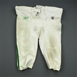 Laws, Trevor<br>1960 White and Kelly Green Throwback Pants<br>Philadelphia Eagles 2010<br>#93 Size: 10-52 Big Boy