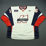 Charlebois, Joe<br>White Set 1<br>Kalamazoo Wings 2010-11<br>#16 Size: 58