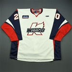Doig, Tyler<br>White Set 1<br>Kalamazoo Wings 2010-11<br>#20 Size: 58