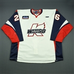 Dorich, Alan<br>White Set 1<br>Kalamazoo Wings 2010-11<br>#26 Size: 58