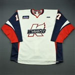 Fulton, Jordan<br>White Set 1<br>Kalamazoo Wings 2010-11<br>#17 Size: 58