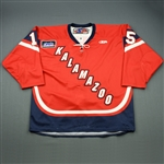 Jurynec, Bryan<br>Red Set 1<br>Kalamazoo Wings 2010-11<br>#15 Size: 56