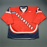 Landry, Jon A.<br>Red Set 1<br>Kalamazoo Wings 2010-11<br>#2 Size: 56