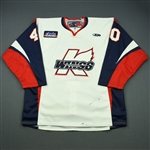 McGuirk, Brian<br>White Set 1<br>Kalamazoo Wings 2010-11<br>#40 Size: 54