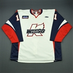 McMillin, Brian<br>White Set 1<br>Kalamazoo Wings 2010-11<br>#11 Size: 56