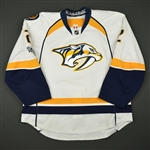 Bitetto, Anthony<br>White Set 2 w/ NHL Centennial Patch<br>Nashville Predators 2016-17<br>#2 Size: 56