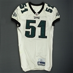 Mays, Joe<br>White<br>Philadelphia Eagles 2009<br>#51 Size: 48 LINE