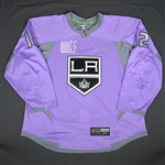 Gaborik, Marian<br>Purple, Hockey Fights Cancer Warm-up, October 23, 2015, Autographed<br>Los Angeles Kings 2015-16<br>#12 Size: 56