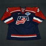 Gill, Hal * <br>Blue, World Cup of Hockey, Game-Issued<br>Team USA 2004<br>#25 Size: 58