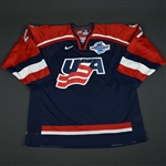 Halpern, Jeff * <br>Blue, World Cup of Hockey, Pre-Tournament Worn, Autographed<br>Team USA 2004<br>#27 Size: 56