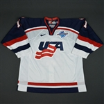 Amonte, Tony * <br>White, World Cup of Hockey, Pre-Tournament Worn, Autographed<br>Team USA 2004<br>#11 Size: 52