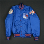 Blue Nylon Cosby Jacket - CLEARANCE<br>New York Rangers <br>Size: Medium