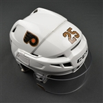 Cousins, Nick<br>Third CCM V10 Helmet w/Shield<br>Philadelphia Flyers 2016-17<br>#25 Size: Small