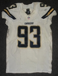 Freeney, Dwight<br>White - worn September 28, 2014 vs. Jacksonville Jaguars<br>San Diego Chargers 2014<br>#93 Size: 42 SKILL