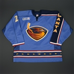 Havelid, Niclas * <br>Third w/ Katrina Relief Patch<br>Atlanta Thrashers 2005-06<br>#28 Size: 56