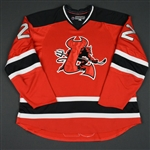 Ryznar, Jason<br>Red Set 2 (RBK 1.0)<br>Lowell Devils 2007-08<br>#22 Size: 58
