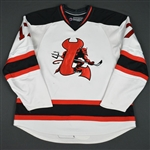 Rooney, Joe<br>White Set 2 (RBK 1.0)<br>Lowell Devils 2007-08<br>#17 Size: 56