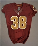 Ducre, Greg<br>Burgundy Throwback worn October 19, 2014 vs. Tennessee Titans<br>Washington Redskins 2014<br>#38 Size:40 SKILL