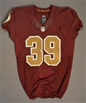 Amerson, David<br>Burgundy Throwback worn October 14, 2014 vs. Tennessee Titans<br>Washington Redskins 2014<br>#39 Size:42 SKILL