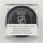 Hartnell, Scott<br>December 27, 2014 vs. Boston Bruins (Blue Jackets Logo)<br>Columbus Blue Jackets 2014-15
