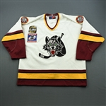 Eakins, Dallas * <br>White, w/ Turner Cup Patch<br>Chicago Wolves 2000-01<br>#6 Size: 54