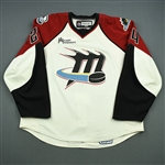 Stewart, Chris * <br>White Set 1<br>Lake Erie Monsters 2008-09<br>#24 Size: 58