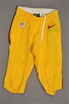Biggers, E.J.<br>Yellow Pants<br>Washington Redskins 2014<br>#30 Size: 28-SHORT