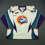 Tanski, Scott<br>White Set 1<br>Orlando Solar Bears 2014-15<br>#13 Size: 56