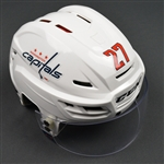 Alzner, Karl<br>White, CCM Helmet w/ Oakley Shield<br>Washington Capitals 2015-16<br>#27 Size: Medium
