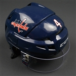 Chorney, Taylor<br>Blue, CCM Helmet w/ Oakley Shield<br>Washington Capitals 2015-16<br>#4