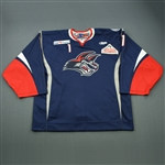 Cheverie, Marc<br>Navy Set 1<br>Elmira Jackals 2012-13<br>#1 Size: 58G