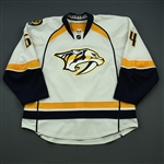 Bartley, Victor<br>White Set 1<br>Nashville Predators 2014-15<br>#64 Size: 56