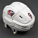 Campbell, Gregory<br>White, Bauer Helmet<br>Columbus Blue Jackets 2015-16<br>#9