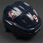 Campbell, Gregory<br>Blue, Bauer Helmet<br>Columbus Blue Jackets 2015-16<br>#9