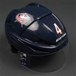 Connauton, Kevin<br>Blue, Easton Helmet w/ Oakley Shield<br>Columbus Blue Jackets 2015-16<br>#4