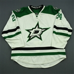 Benn, Jordie<br>White Set 2<br>Dallas Stars 2014-15<br>#24 Size: 58