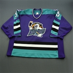 Torchia, Mike * <br>Purple<br>Orlando Solar Bears 1995-96<br>#35 Size: 54