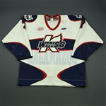 Clarke, Aaron<br>White Set 1<br>Kalamazoo Wings 2012-13<br>#7 Size: 54