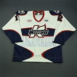 Davies, Michael<br>White Set 1<br>Kalamazoo Wings 2012-13<br>#12 Size: 54