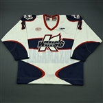 Lysak, Brett<br>White Set 1<br>Kalamazoo Wings 2012-13<br>#11 Size: 56